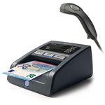 Détecteur de faux billets avec douchette codes barres USB et stand rotatif