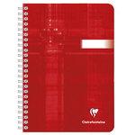 Cahier rouge 180 pages 90g 14.8 x 21 cm ligné à reliure intégrale spirale