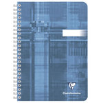 Cahier bleu gris 180 pages 90g 14.8 x 21 cm ligné à reliure intégrale spirale