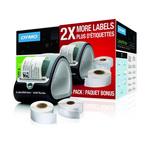 Imprimante à étiquettes professionnelle à grande vitesse avec 2 rouleaux d'étiquettes (300 étiquettes 41 x 89 mm + 500 étiquettes 19 x 51 mm)