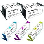 Pack de 5 cartouches d'encre compatibles HP 920XL ( 2 x noir, 1 x cyan, 1 x magenta, 1 x jaune)