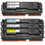 Pack de 5 toners compatibles HP CE320A/CE321A/CE322A/CE323A ( 2 x noir, 1 x cyan, 1 x magenta, 1 x jaune)