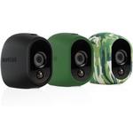 Lot de 3 coques en silicone (noire, verte et camouflage) remplaçables pour caméra Netgear Arlo