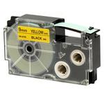 Ruban 9 mm x 8m noir sur jaune pour étiqueteuse KL-60, KL-120, KL-130, KL-820, KL-7400, KL-G2, KL-HD1