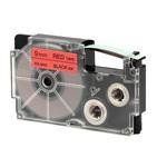 Ruban 9 mm x 8m noir sur rouge pour étiqueteuse KL-60, KL-120, KL-130, KL-820, KL-7400, KL-G2, KL-HD1