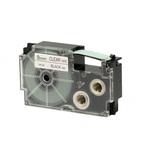 Ruban 9 mm x 8m noir sur transparent pour étiqueteuse KL-60, KL-120, KL-130, KL-820, KL-7400, KL-G2, KL-HD1