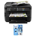 Imprimante Multifonction jet d'encre 4-en-1 (USB 2.0 / Ethernet / Wi-Fi N) + Cartouche d'encre haute capacité noire (1 100 pages à 5%)