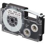 Ruban pour câbles flexibles 9 mm x 5.5 m noir sur blanc pour étiqueteuse KL-120, KL-130, KL-820, KL-7400, KL-HD1, KL-G2