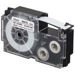 Ruban adhésif haute-résistance 12 mm x 5.5 m noir sur blanc pour étiqueteuse KL-120, KL-130, KL-820, KL-7400, KL-HD1, KL-G2