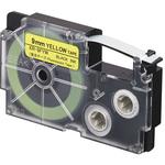 Ruban flurorescent 9 mm x 5.5 m noir sur jaune pour étiqueteuse KL-120, KL-130, KL-820, KL-7400, KL-G2, KL-HD1