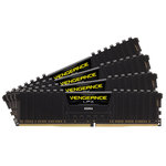 Kit Quad Channel 4 barrettes de RAM DDR4 PC4-24000 - CMK64GX4M4C3000C15 (garantie à vie par Corsair)