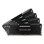 Kit Quad Channel 4 barrettes de RAM DDR4 PC4-21300 - CMU64GX4M4A2666C16 (garantie à vie par Corsair)