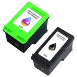 Pack de 2 cartouches d'encre compatibles HP 350XL (CB336E) / 351XL (CB338E) (1 x noir et 1 x couleur cyan/magenta/jaune)