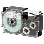 Ruban 18 mm x 8m noir sur blanc pour étiqueteuse KL-60, KL-120, KL-130, KL-820, KL-7400, KL-G2, KL-HD1