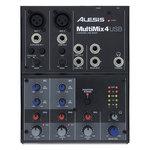 Table de mixage compacte à 4 voies, 6 entrées et carte audio USB intégrée