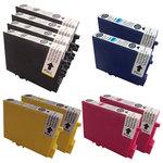 Pack de 10 cartouches d'encre compatibles Epson T044 (4 x noir et 2 x cyan, 2 x magenta et 2 x jaune)