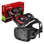 Casque de réalité virtuelle + carte graphique NVIDIA GeForce GTX 1070 8 Go
