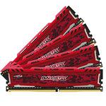 Kit Quad Channel  RAM DDR4 PC4-19200 - BLS4C4G4D240FSE (garantie 10 ans par Crucial)