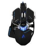 Souris filaire pour gamer - droitier - capteur optique 3500 dpi - 10 boutons programmables - rétroéclairage RGB