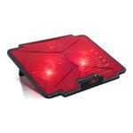 """Refroidisseur pour ordinateur portable 15.6"""" avec deux ports USB 2.0 et rétro-éclairage rouge"""