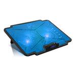 """Refroidisseur pour ordinateur portable 15.6"""" avec deux ports USB 2.0 et rétro-éclairage bleu"""