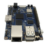 Carte mère avec processeur ARM Cortex A53 Quad-Core 1.2Ghz - RAM 2 Go - GPU Mali400-MP2 - RJ45 - HDMI - 2x USB 2.0 - Wi-Fi N / Bluetooth 4.0
