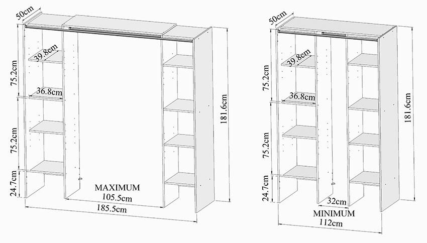 hauteur penderie standard 20170610012737 exemples de designs utiles. Black Bedroom Furniture Sets. Home Design Ideas
