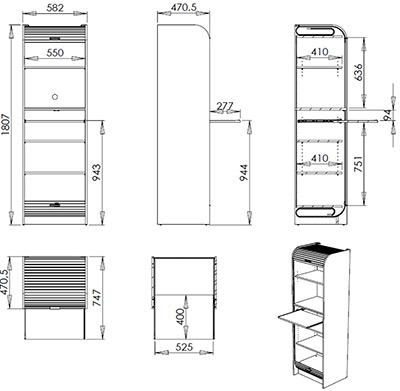 G n rique colonne de rangement nantes 260 h tre blanc Hauteur meuble cuisine four micro onde cuisine plus