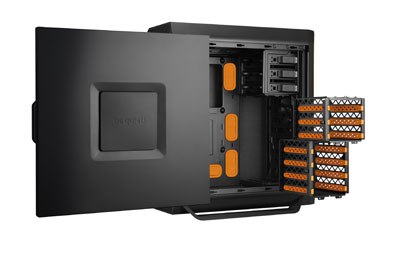 be quiet BG001 Bo/îtier PC Noir//Orange