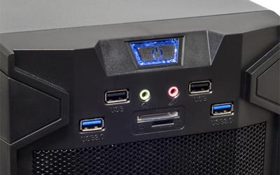 USB 3.0 8 Baies DD SPIRIT OF GAMER X-FIGHTER SERIES 41 BLUE MANA 2 Ventilateurs Bo/îtier GAMING ch/âssis ATX//mATX//mITX 7 Ports dextension