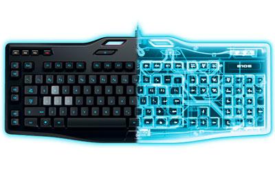logitech g105 gaming keyboard clavier pc logitech sur. Black Bedroom Furniture Sets. Home Design Ideas