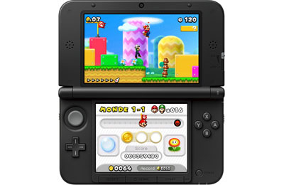 Nintendo 3ds xl rouge console nintendo 3ds nintendo for Ecran noir appareil photo 3ds