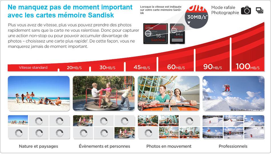SanDisk Carte mémoire 32 Go