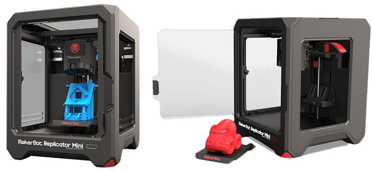 makerbot replicator mini imprimante 3d makerbot sur. Black Bedroom Furniture Sets. Home Design Ideas