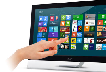 Acer 23 led tactile t232hlbmidz touch ecran pc acer for Ecran dalle ips pour la photo