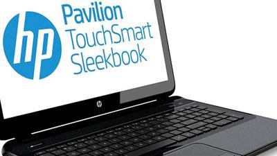 hp pavilion touchsmart sleekbook 15 b155sf pc portable hp sur. Black Bedroom Furniture Sets. Home Design Ideas