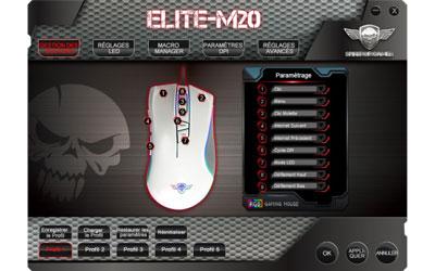 Spirit of Gamer Souris Elite-M20 - RGB 4000 Dpi - Blanc 2 optimark