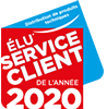 Élu Service client de l'année 2020