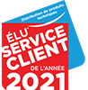 Élu Service client de l'année 2021