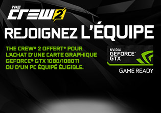 The Crew 2 (PC) offert avec NVIDIA