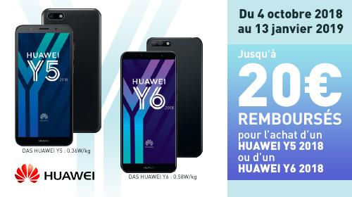 Jusqu'à 20€ remboursés par Huawei