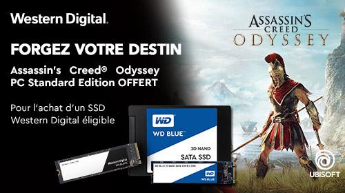 Assassin's Creed Odyssey offert pour l'achat d'un SSD Western Digital éligible