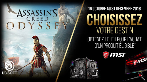 Assassin's Creed Odyssey Standard Edition PC offert avec MSI