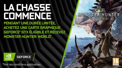 Monster Hunter World offert avec NVIDIA