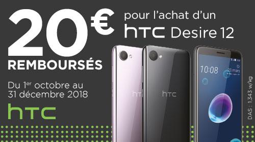20 € remboursés par HTC