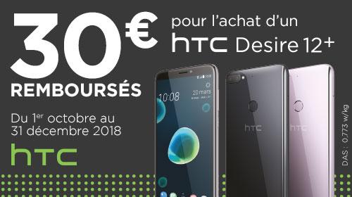30 € remboursés par HTC