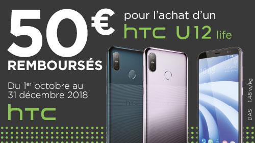50 € remboursés par HTC