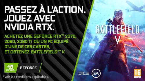 Battlefield V offert pour l'achat d'une NVIDIA RTX jusqu'au 7 Janvier 2019
