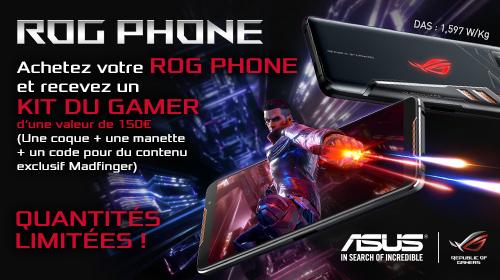 Asus vous offre 150 € de cadeaux sur le ROG Phone jusqu'au 31/12/2018