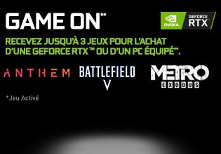 Battlefield V et Anthem offerts avec NVIDIA